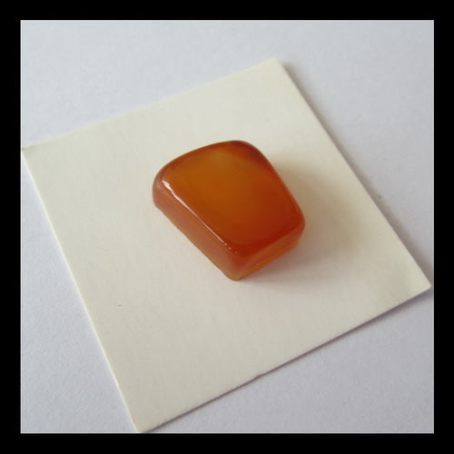Red Agate Cabochon 15x14x7mm,3.7g - MyGemGarden
