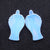 Gemstone Carved Earrings Angle Opalite Earrings Stone Pair for Jewelry, 40x21.5x5mm, 10.7g