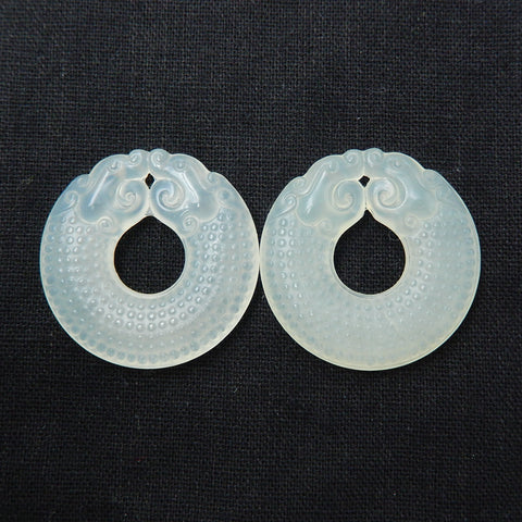 Clear earrings stone