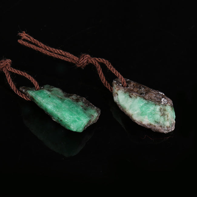 Nugget Emerald Green Earrings Stone Pair, stone for earrings making, 18x12x4mm, 19x12x5mm, 2.7g - MyGemGarden