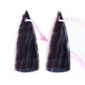 Accept Custome Polish Flint Triangle Earrings Pair, 35x14x3mm, 4.78g - MyGemGarden