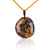 Natural Ocean Jasper Gemstonne Pendant 43x39x15mm, 52cm, 45.4g