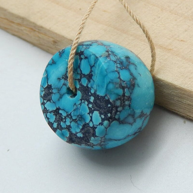 Natural Turquoise Drilled Pendant Beads, 18x12mm, 8g - MyGemGarden
