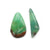 Natural Chrysoprase Gemstone Cabochon Pair 30x19x4mm, 33x10x6mm, 5.5g - MyGemGarden