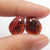 Garnet Irregular Earrings Stone Pair, stone for earrings making, 14x10x3mm, 1.9g