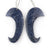 New Design! Blue Coral Earrings Pair, DIY Jewelry Making, 46x24x5mm, 11.1g