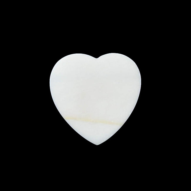 Natural, White jasper, Tiger's Eye Glued, Gemstone Heart Pendant Bead, 35X6mm, 13.6g - MyGemGarden