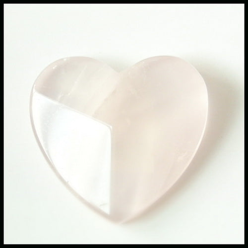 Carved Rose Quartz Heart Shape Gemstone Cabochon, 25x24x7mm, 6.1g - MyGemGarden