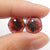 Garnet Irregular Earrings Stone Pair, stone for earrings making, 11x11x3mm, 1.5g