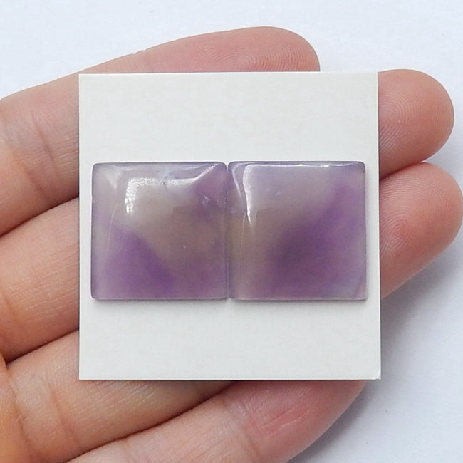 Natural Amethyst Rectangle Cabochon Pair, 18x3mm, 4.9g - MyGemGarden