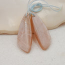 Sunstone Earrings Stone Pair, stone for earrings making, 31x11x4mm, 4.4g - MyGemGarden