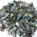 Wholesale 20g Fancy shape Labradorite Cabochons, High quality natural gemstone cabochon lot, 7~10pcs - MyGemGarden