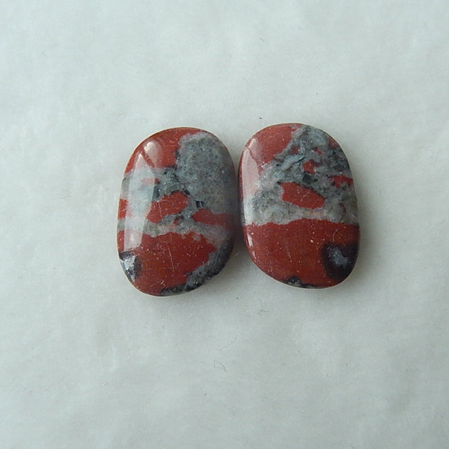 Natural Red River Jasper Cabochon 21x15x3mm,4.1g - MyGemGarden