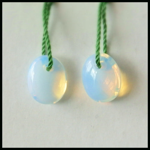SALE Opalite Gemstone Earrings Pair, 10x8x4mm, 1.1g - MyGemGarden