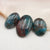 3 Pcs Natural Blue Apatite Crystal Cabochon, stone for jewelry making, 20x17x5, 30x20x5mm, 14.6g - MyGemGarden