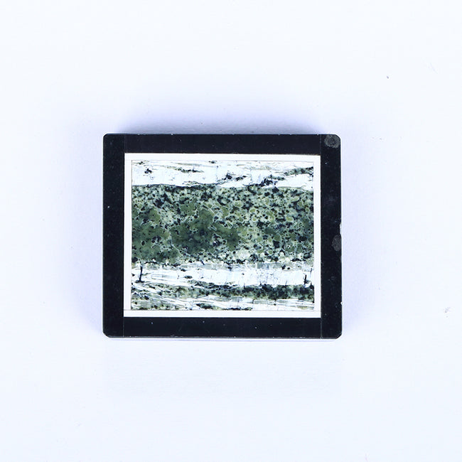 Black Jasper and Green Zebra Jasper Glued Rectangle Pendant, 33x29x6mm, 15.8g - MyGemGarden