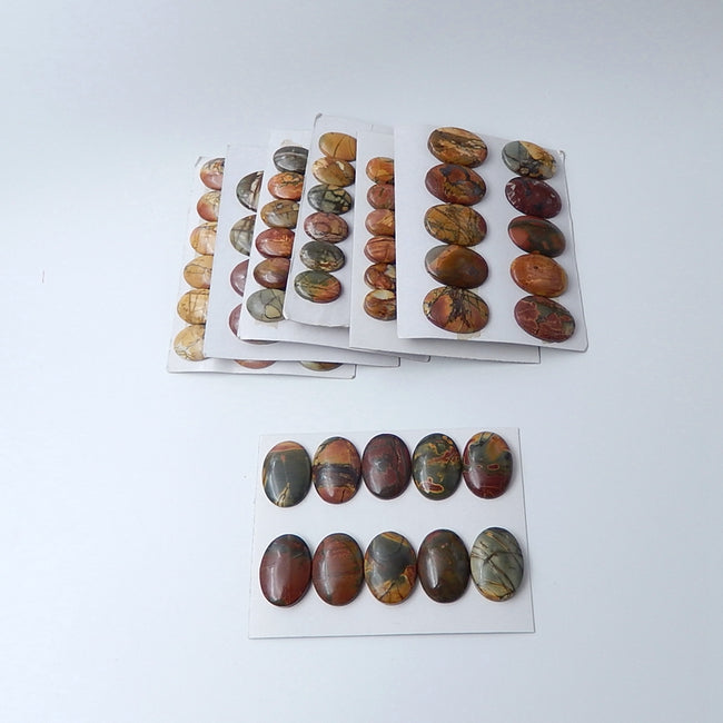 Wholesale Multi-color Picasso Jasper  cabochons - MyGemGarden