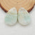 Hemimorphite Teardrop Gemstone Earrings Stone Pair For Jewelry Making, 29x19x3mm, 7.0g