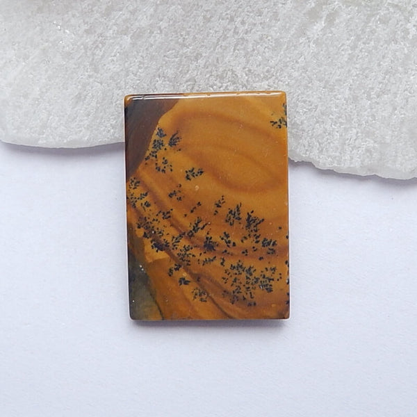 Natural Us Biggs Jasper Rectangle Gemstone Cabochon, 24x17x5mm, 3.9g - MyGemGarden