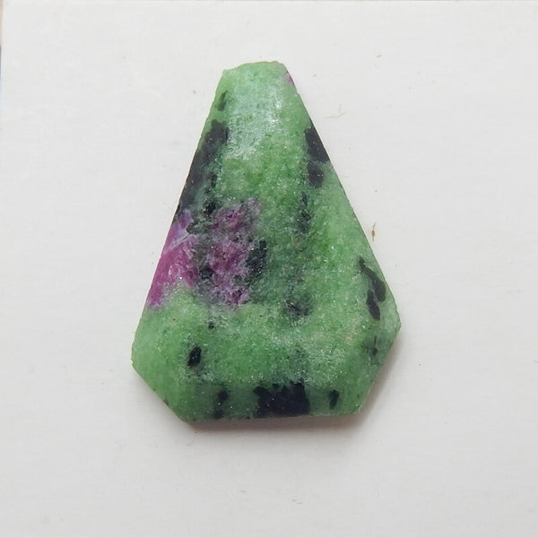Natural Ruby And Zoisite Gemstone Cabochon, 25x19x6mm, 4.4g - MyGemGarden