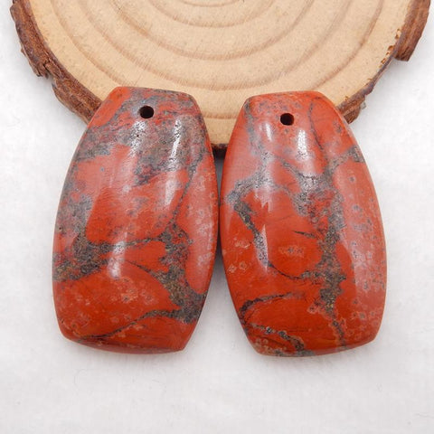 Red earrings stone