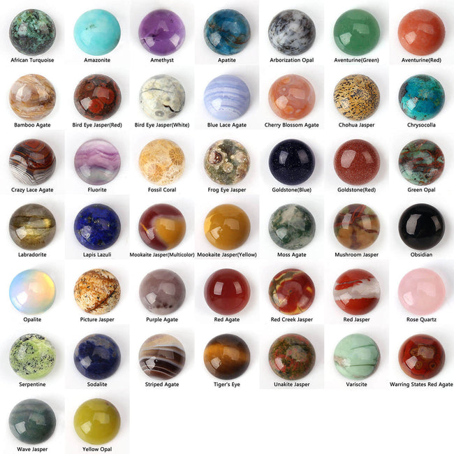10mm Round Flatback Cabochon, Tiny High Quality Polished Cabochons for Jewelry