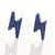 New design Lapis Lazuli Tiny Lightning Bolt Stud Gemstone Cabochon Pair, 9x4x2.5mm, 1.3ct - MyGemGarden