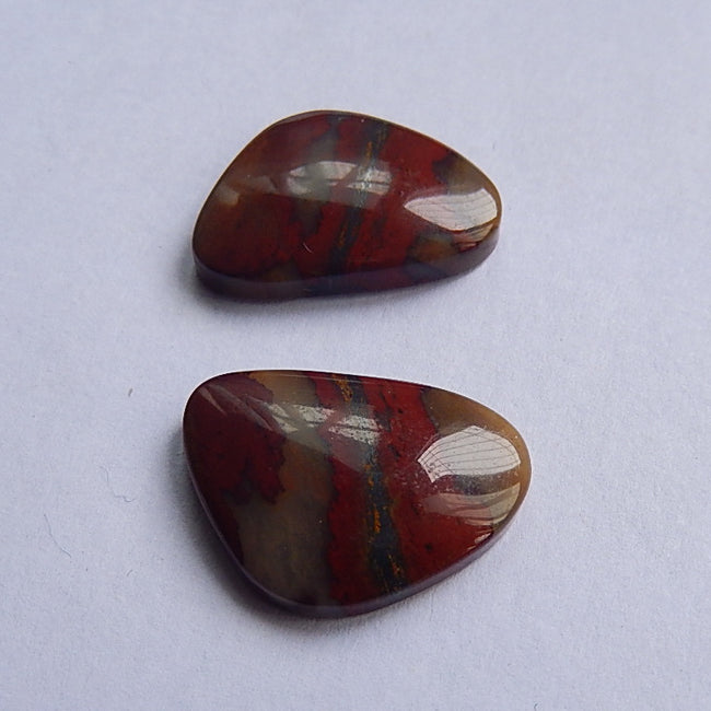 Natural African Blood Stone Cabochon 22x16x5mm,5.2g - MyGemGarden