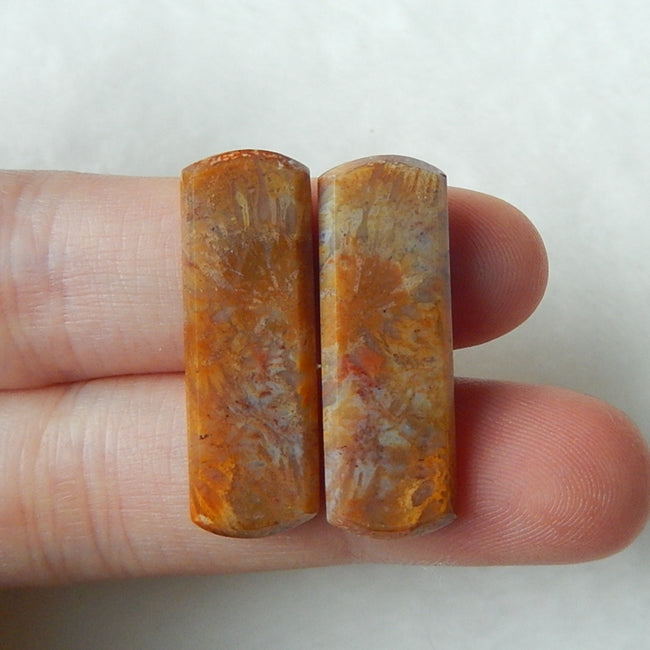 Natural Bamboo Agate Cabochon 28x9x3mm,3.8g - MyGemGarden