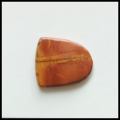 Natural Multi-Color Picasso Jasper Gemstone Cabochon, 18x16x3mm, 2.2g - MyGemGarden