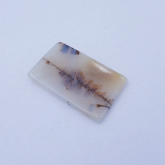 Rare East Java Maganese Agate Cabochon, 48x31x5mm, 15.3g - MyGemGarden