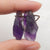 Nugget Amethyst Earrings Stone Pair, stone for earrings making, 26x12x7mm, 5.4g