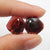 Garnet Irregular Earrings Stone Pair, stone for earrings making, 13x12x3mm, 2.4g
