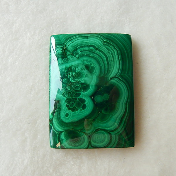 Beautiful Malachite Cabochon 41x31x7mm,25.8g - MyGemGarden