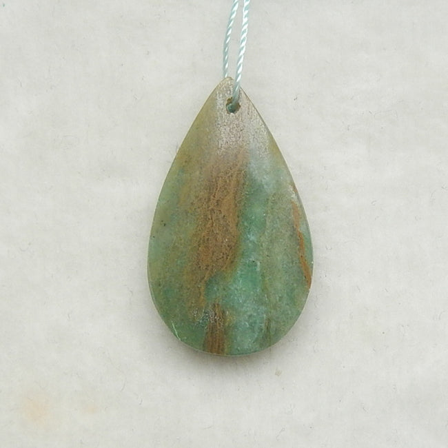 Beautiful Chrysocolla Water Drop Pendant, 31x18x5mm, 3.7g - MyGemGarden