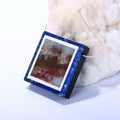 Black Jasper, Lapis Lazuli and Amazonite Drilled Glued Pendant, 35x32x7mm, 20.0g - MyGemGarden