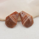 Sunstone Earrings Stone Pair, stone for earrings making, 22x20x6mm, 10.0g - MyGemGarden