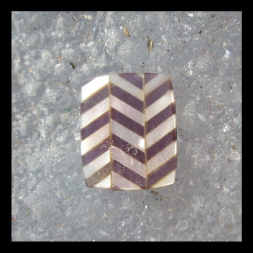 Shell Glued Cabochon 13x11x3mm, 1.4g - MyGemGarden