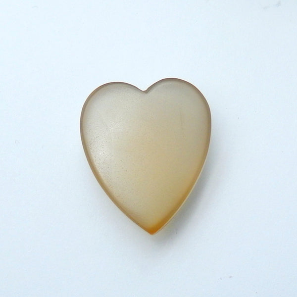 Natural Agate Gemstone Heart Cabochon, 30x25x11mm, 12g - MyGemGarden