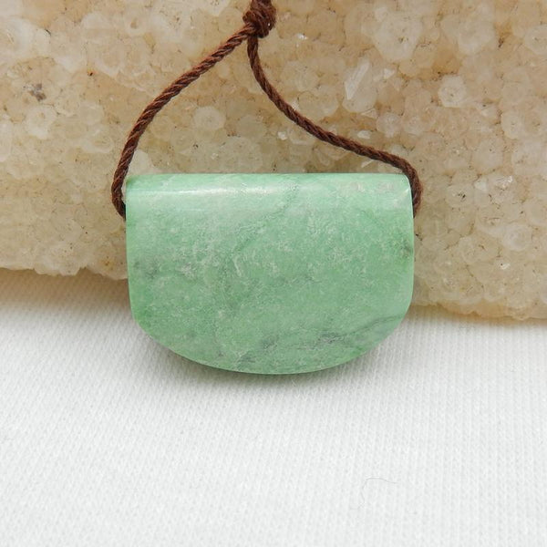 Natural Green Turquoise Side Drilled Pendant Stone, 23x16x8mm, 5.2g