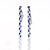New Design! M.O.P and Lapis Lazuli Glued Long Gemstone Earrings Beads, 49x3.5mm, 3.6g - MyGemGarden