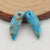 Blue Apatite Crystal Earrings Stone Pair, stone for earrings making, 19x6x5mm, 2.2g - MyGemGarden