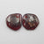 Garnet Irregular Earrings Stone Pair, stone for earrings making, 12x11x2mm, 1.7g