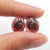 Garnet Irregular Earrings Stone Pair, stone for earrings making, 12x10x3mm, 1.6g