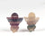 Carved Fluorite Angel Earrings, 23x20x7mm, 8.2g - MyGemGarden