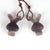 Carved Rabbit Fluorite Earrings, 22x17x11mm, 8.8g - MyGemGarden