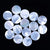 1 Piece Round White Shell Cabochon for Jewelry Design, 20x1mm, 1.0g