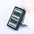 Black Jasper and Green Zebra Jasper Glued Rectangle Pendant, 37x28x5mm, 13.7g - MyGemGarden