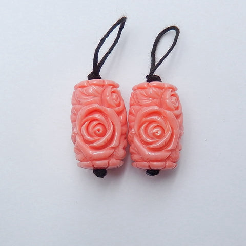 Flower earrings stone