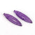 Hand Carved Purple Quartz Feather Shaped Earrings Stone Pair, 35x9x3.5mm, 4g - MyGemGarden